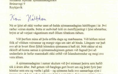 Kveðja frá forseta Íslands